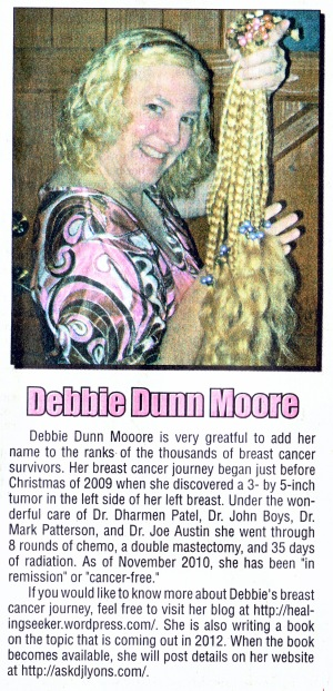 Breast Cancer Awareness Month featuring Debbie Dunn Moore